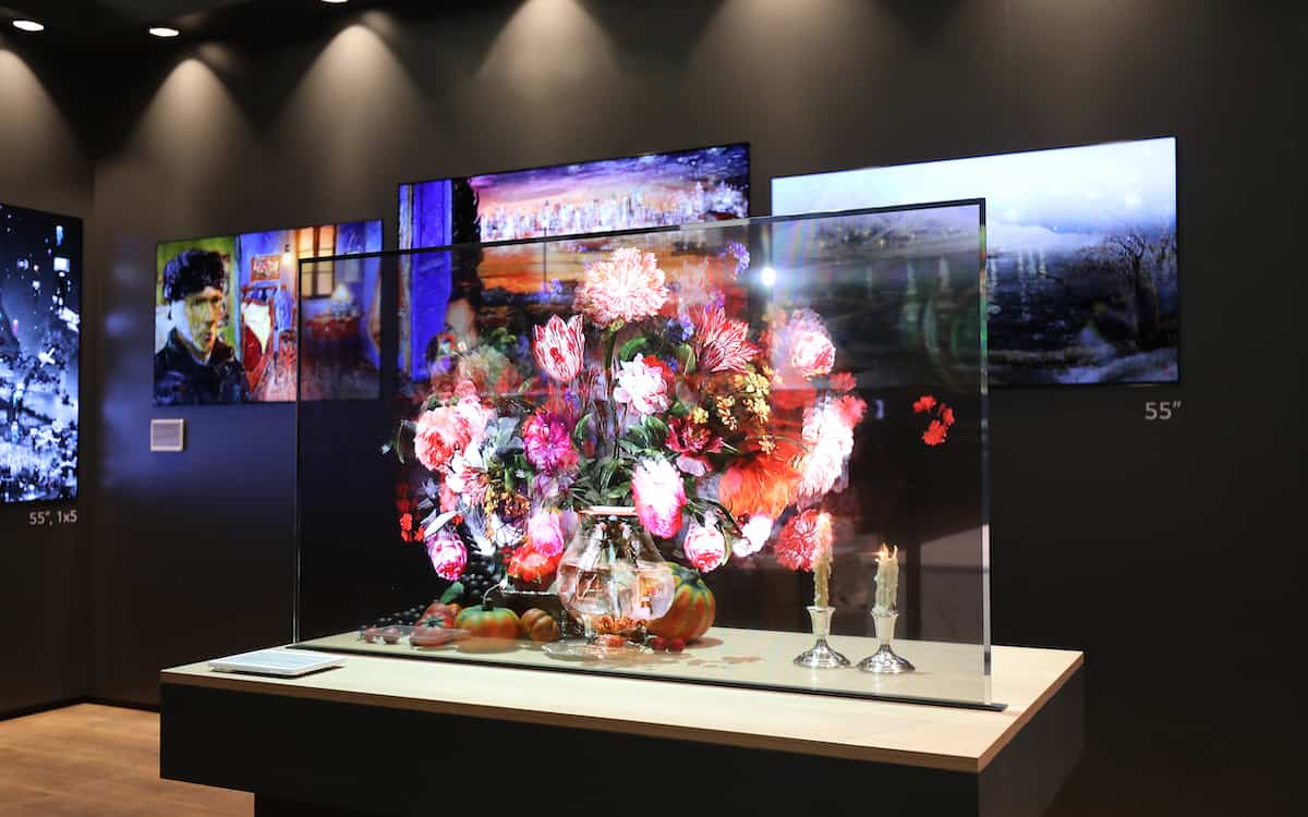 Transparent screen Oled screen LG Hire by JS AV Company
