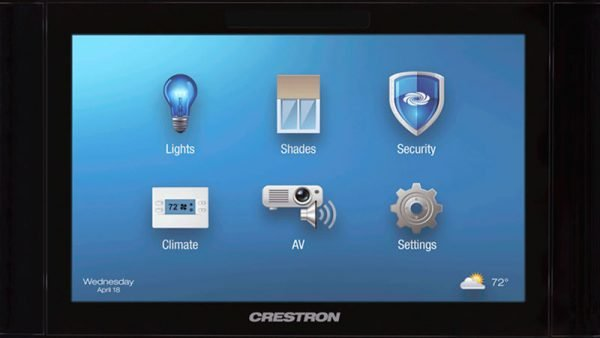 Creston-touch-screen-control-system
